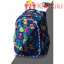 Светеща LED раница CoolPack Funny Monsters JOY M